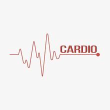 Line Heartbeat. Pulse Trace. C...