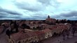 Aerial view of Medinacelli, historical village of Soria,Spain. Drone Footage