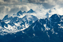 Jagged Peaks Of The Olympic Mo...