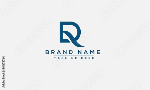 DR, RD Logo Design Template Vector Graphic Branding Element. Canvas Print