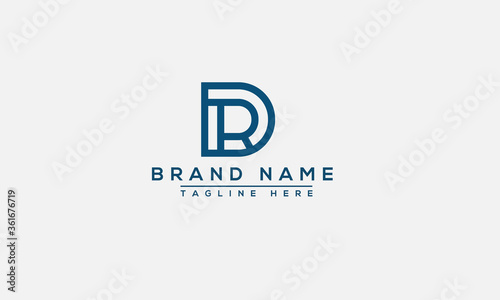 Photo DR, RD Logo Design Template Vector Graphic Branding Element.