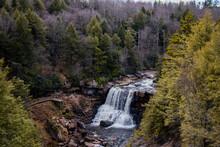 Blackwater Falls In Davis, WV.