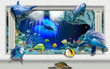 3D Underwater Fishes Living Ro...