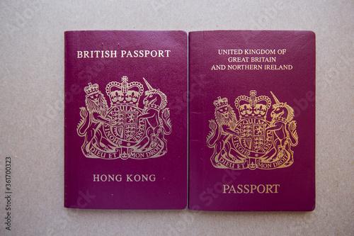 Hong Kong British National (Overseas) BNO passport and British Dependent Territo Canvas-taulu