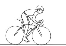 One Line Drawing Of A Bicycle ...
