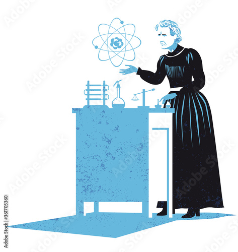 the discovery of discovery of radium and polonium Wallpaper Mural