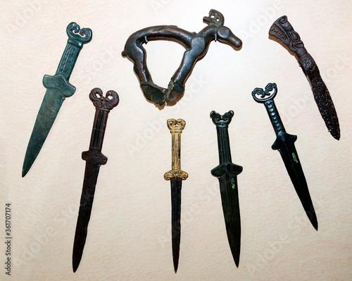 Items of armament of the Siberian Scythians Canvas Print