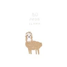 Cute Llama. Hand Drawn Cartoon...