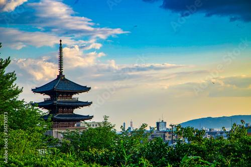 Photo 京都 八坂の塔 夕景