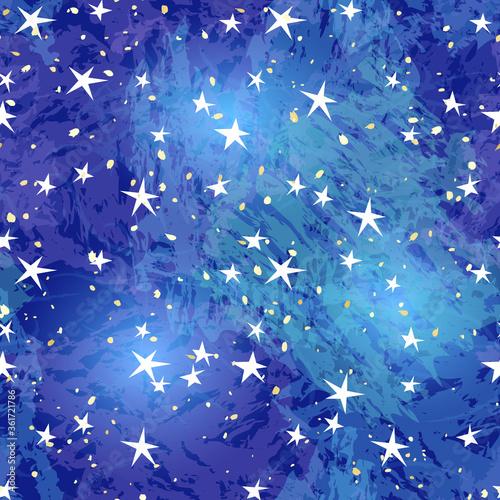 星空のシームレスパターン