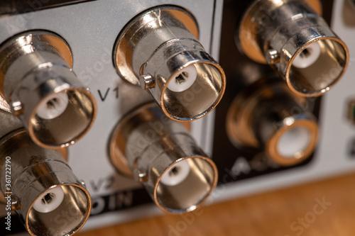 Fotografía connectors for camcorders on the DVR