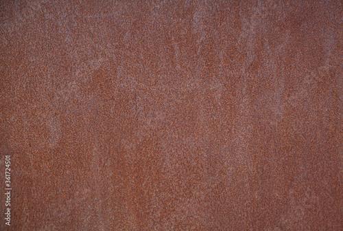 rusty brown old grunge metal texture Fototapet