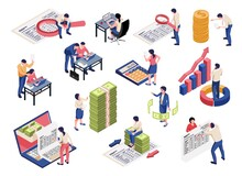 Accounting Isometric Set