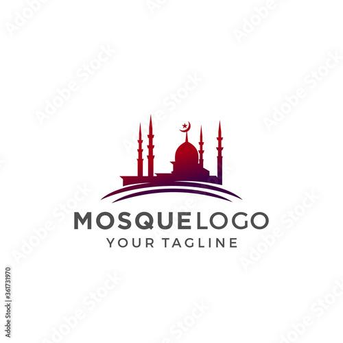 Photo Mosque Logo Template Design Vector, Emblem, Concept Design, Creative Symbol, Ico