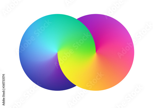 Abstract spectrum mesh simbol background. Blurred rainbow colorful backdrop form of a infinity. Vector illustration for your logo, graphic design, template, banner, poster or website