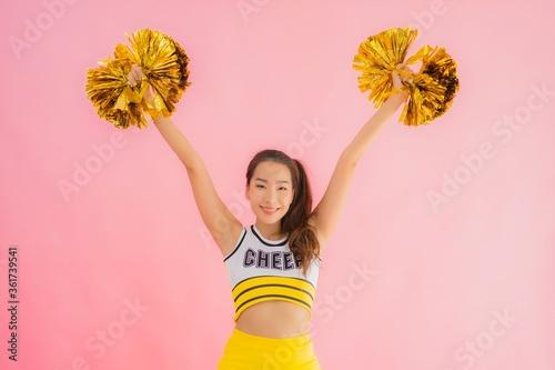 Fotografía Portrait beautiful young asian woman cheerleader