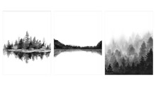Minimalist Monochrome Landscap...