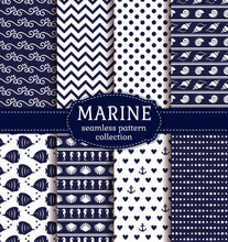 Sea And Nautical Seamless Patt...