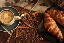 Coffee Still Life With Cinnamo...