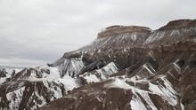 Snowy Flattop Mountain In West...