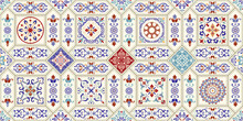 Seamless  Tile With Colorful P...