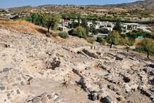 View Over The 4th Century Ancient Khirokitia (Choirocoitia) Settlement On The Island Of Cyprus
