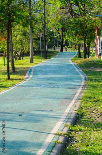 Cuadros en Lienzo Bicycle Lane in a Park
