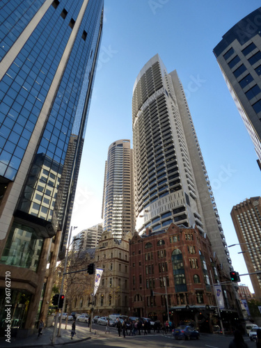 Australia, Sydney, 2014 August,on the streets of the metropolis, view of buildings