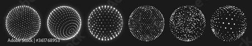 Papel de parede Abstract grid sphere