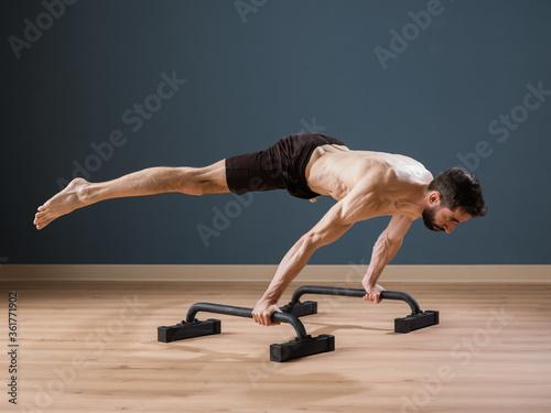 Fototapeta Exercising at home for Calisthenics specialty obraz
