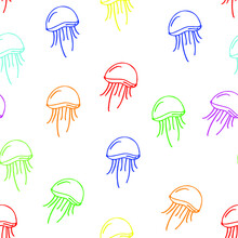 Multi-colored Jellyfish Patter...