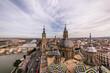 Preciosas vistas desde lo alto de la Basílica del Pilar en Zaragoza