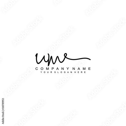 Photo UM initials signature logo