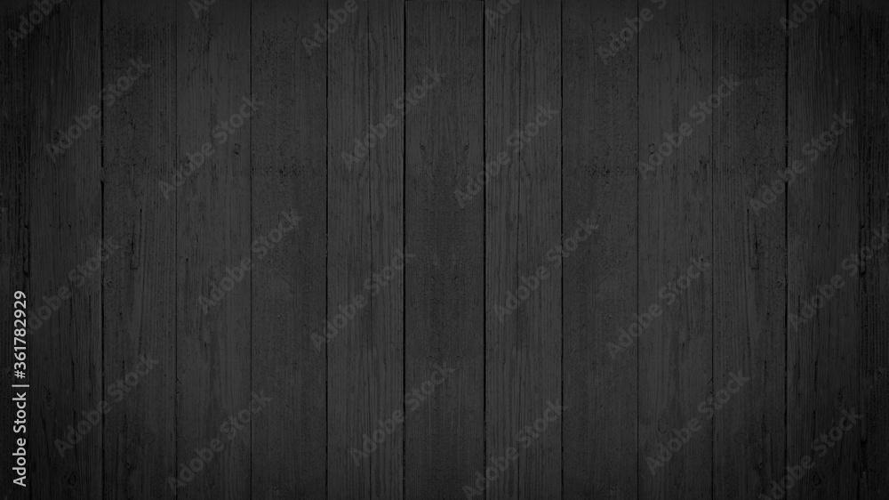 Fototapeta old black grey gray rustic dark wooden texture - wood background - obraz na płótnie