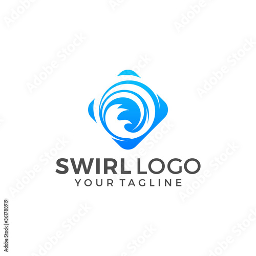 Abstract Circle Swirl Logo Template Illustration Design