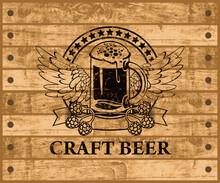 Label Or Banner For Craft Beer...