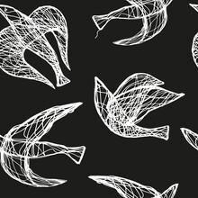 Seamless Hand Drawn Pattern Wi...