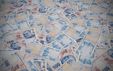 Turkish Money Background, 100 ...