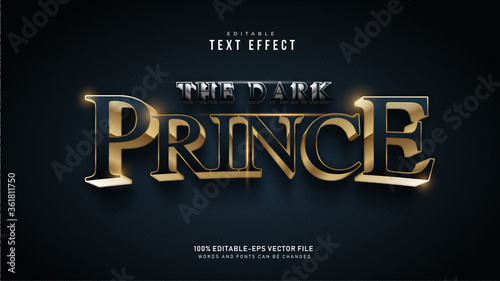 Dark Prince Text Effect Tablou Canvas