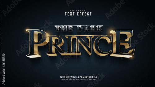 Dark Prince Text Effect Billede på lærred