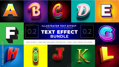 Fotografering Modern Text Effect Bundle 2