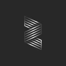 Z Letter 3d Logo Creative Mono...