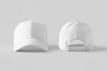 White Baseball Caps Mockup On ...