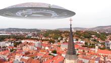 Alien Ufo Flying Saucers Over ...