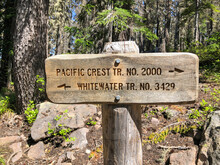 A Trail Sign Directs Hikers An...