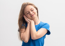 Smiling Blonde Caucasian Model...