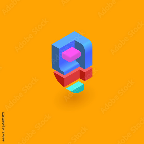 Photographie color isometric logo, latter disign