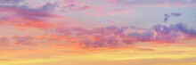 Dramatic Bright Colored Clouds At Sunset