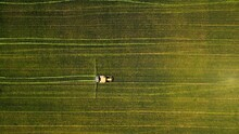 Birds-eye View Of A Tractor Wo...