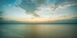 Foto em longa exposição logo após o pôr-do-sol em Belém do Pará, olhando para o conjunto de ilhas do Combú.